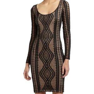 BCBGMaxAzria Tanya lace long sleeve dress, Sz. S